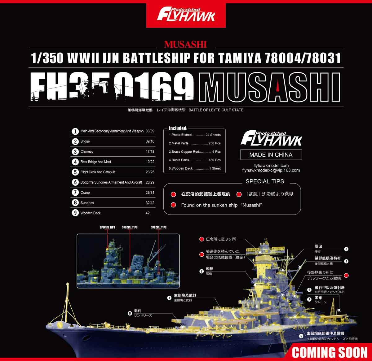 FH350169 Musashi FOR TAMIYA 78004/78031 File